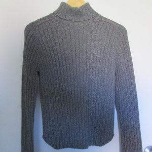 Basic grey turtle neck women's sweater SZ XL